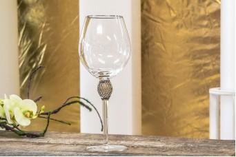Ποτήρι Κρασιού Ασημένιο Κρύσταλλο 25cm GI09108S