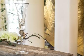 Ποτήρι Σαμπάνιας Ασημένιο Κρύσταλλο 28cm GI09112S