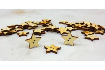 Κουμπιά Ξύλινα Αστέρια H36