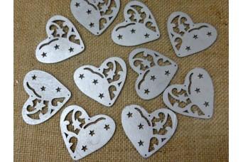 Ξύλινα Κουμπιά Καρδιά H463