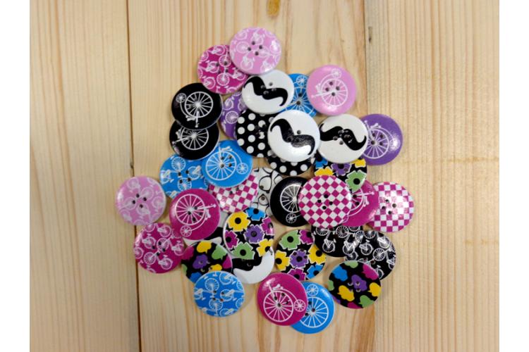 Κουμπιά Ξύλινα Design Mix H468