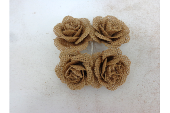 Υφασμάτινα Τριαντάφυλλα Λινάτσας JF12-4168