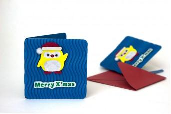 Χριστουγεννιάτικη Κάρτα Πιγκουίνος PI9631-10