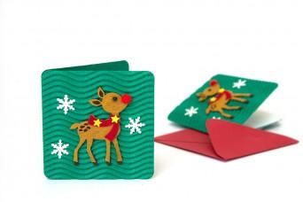 Χριστουγεννιάτικη Κάρτα Ελαφάκι PI9631-12