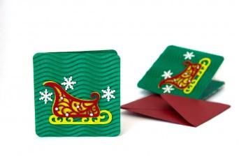 Χριστουγεννιάτικη Κάρτα Έλκηθρο PI9631-2