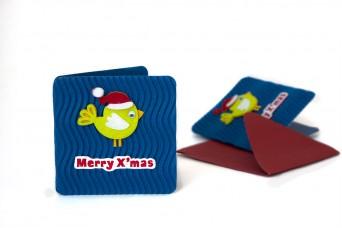 Χριστουγεννιάτικη Κάρτα Πουλάκι PI9631-3