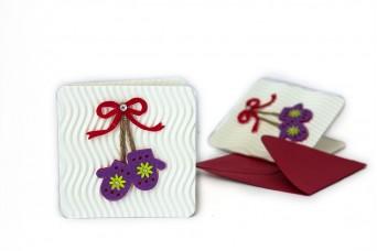 Χριστουγεννιάτικη Κάρτα Γάντια PI9631-4