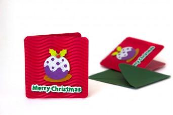 Χριστουγεννιάτικη Κάρτα Cupcake PI9631-6