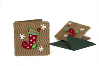 Χριστουγεννιάτικη Κάρτα Μπότα PI9631-9