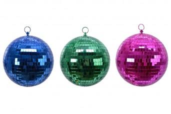 3τεμ Μπάλες 10cm με Χρωματιστό Καθρέφτη 10cm KGC20-455987