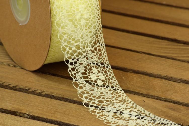 Δαντέλα Handmade 20yd Cream LC0441-5