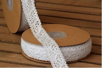 Δαντέλα Βαμβακερή Ρόμβοι 10yd Λευκή LC101107-23-1