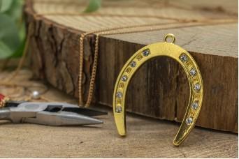 Μεταλλικό Πέταλο Χρυσό Strass MI-5334-1