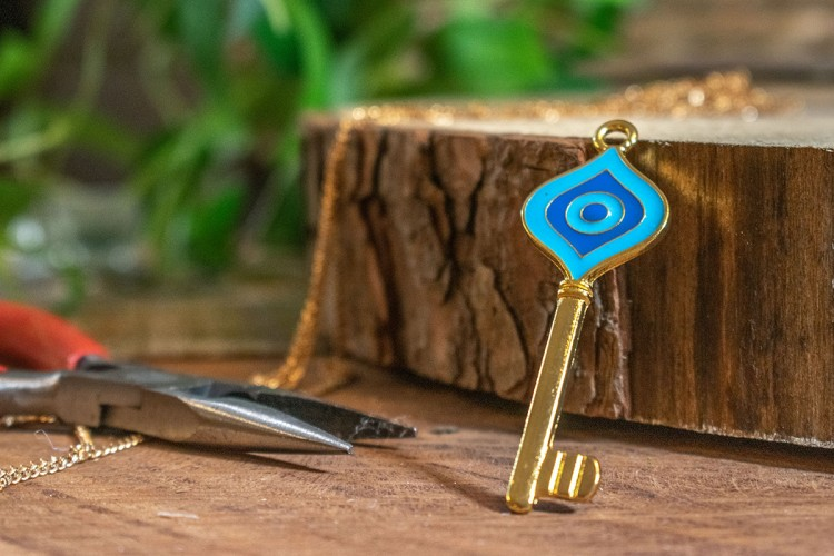 Μεταλλικό Κλειδί Χρυσό Σμάλτο MI-5334-2