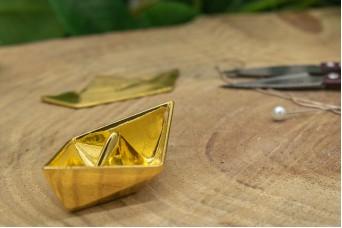 Μεταλλικό Καραβάκι 3D Χρυσό MI-5366-2