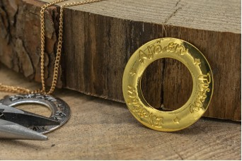 Μεταλλικός Κύκλος Ευχών Χρυσός MI-5370-2