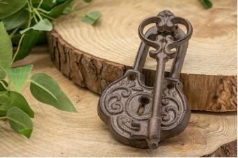 Μεταλλικό Κλειδί με Κλειδαριά Σκουριά MI0085