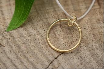 Μεταλλικό Στοιχείο Κύκλος με 2 Κρικάκια Χρυσό 23mm 10τεμ. MI1438-10624