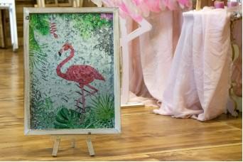 Πινακίδα Ξύλο-Μέταλλο Flamingo MI5222