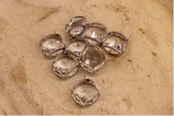 Κύβος Κρύσταλλο Ασημί