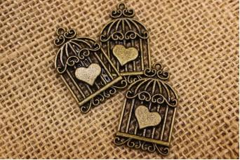 Μεταλλικό Κλουβί Καρδιά MI3764
