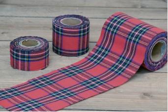 Κορδέλα Σκωτσέζικο Καρώ 10yd Κόκκινη RB12-134953-1