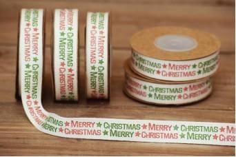 Κορδέλα Merry Christmas Πράσινο-Κόκκινο 10yd RB0704-12