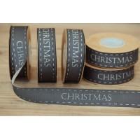 Κορδέλα Merry Christmas Μαύρη 10yd RB0708-6