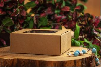 Χάρτινο Κουτί Craft με Διαφάνεια 14x10x5.2cm PI-9599-14