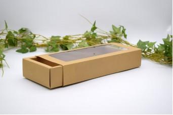 Χάρτινο Κουτί Craft με Διαφάνεια 27x12x4.7cm PI-9601