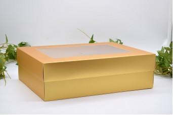 Χάρτινο Κουτί Χρυσό 30x23x9cm PI-9603-30G