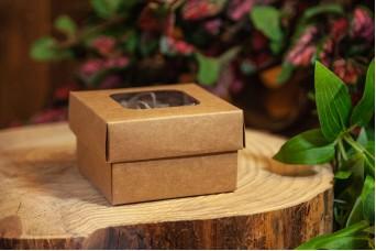 Χάρτινο Κουτί Craft με Διαφάνεια 8x8x5cm PI-9603