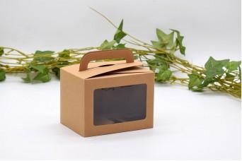Χάρτινο Κουτί Craft με Διαφάνεια και Χερουλάκι 10x7.5x7.5cm PI-9608-10