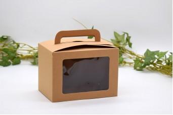 Χάρτινο Κουτί Craft με Διαφάνεια και Χερουλάκι 14x10x10cm PI-9608-14