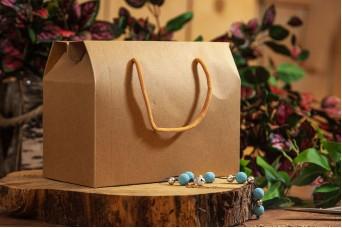 Χάρτινο Κουτί Craft με Κορδονάκια 19.5x15x10cm PI-9611