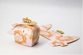 Κουτiά Χάρτινα 50τεμ Κορώνα Ροζ PI3056P