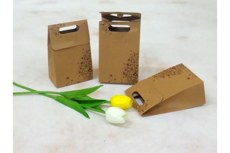 Χάρτινες Σακούλες 12τεμ. 10cm με Floral Σχέδιο PI4176