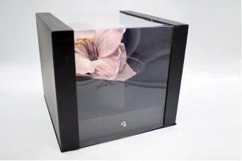 Flower Box Τετράγωνο Καρδιά με Συρτάρι PIF-W7352-BLC