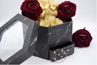 Flower Box Πολύγωνο με Συρτάρι PIF-W7535