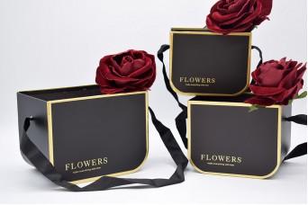 Set 3τεμ Flower Box Τσαντάκια PIF-W9913