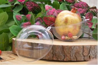 Μπάλα Πλαστική Ανοιγόμενη Extra Clear 10cm PLI3583-10
