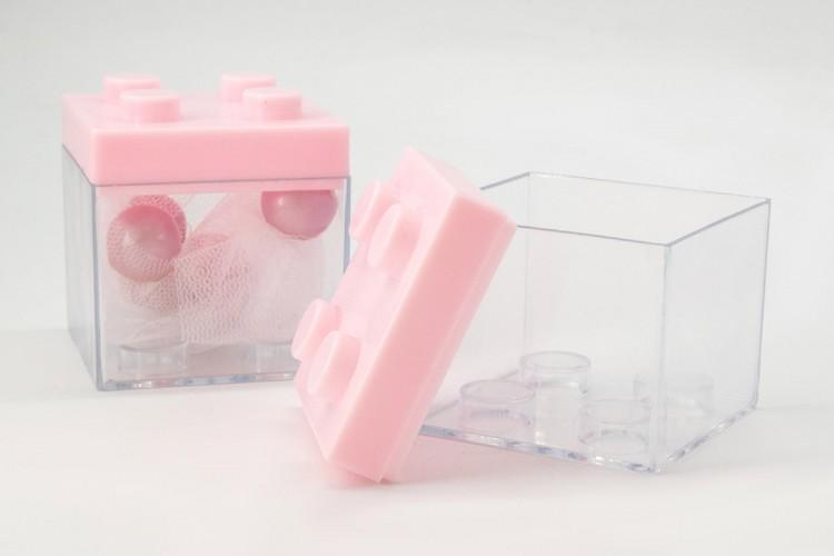 Κουτί Τύπου Lego Ροζ PLI0950P