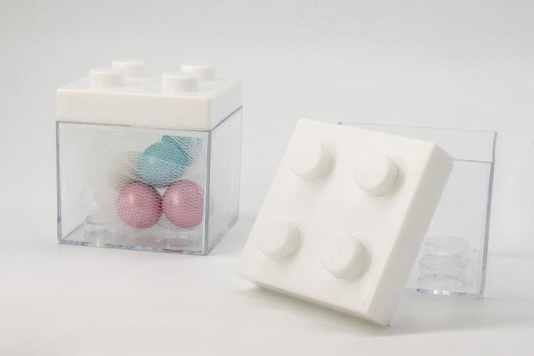 Κουτί Τύπου Lego Λευκό PLI0950W