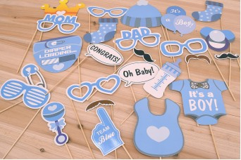 "Photo Booth Kit ""Boy Baby Shower"" PP-BABY-BOY"