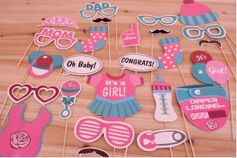 "Photo Booth Kit ""Girl Baby Shower"" PP-BABY-GIRL"