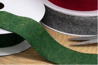 Κορδέλα Μάλλινη Τσόχα 40mm x 10y Πράσινη RB-3986-3