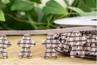 Γιρλάντα Καφέ Καρώ Μπισκοτούλης 20mm x 10y RB-8884