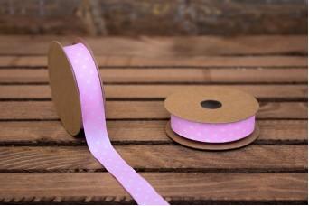 Κορδέλα Υφασμάτινη Πουά Ροζ RB0025-1.5-1