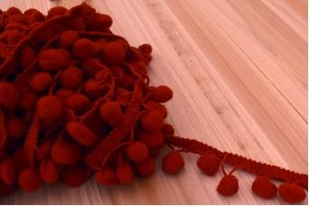 Τρέσσα Pom Poms 15mm Κόκκινη RB8852-16