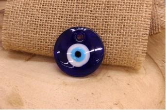 Μάτι Γυάλινο Μπλε 40mm